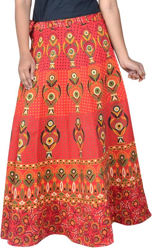 Pezzava Printed Women Wrap Around Multicolor Skirt