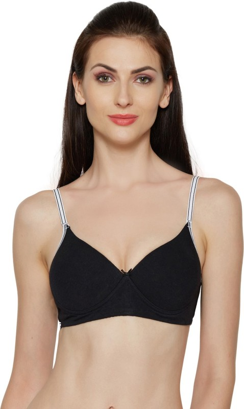Inner Sense Women T-Shirt Lightly Padded Bra(Black)