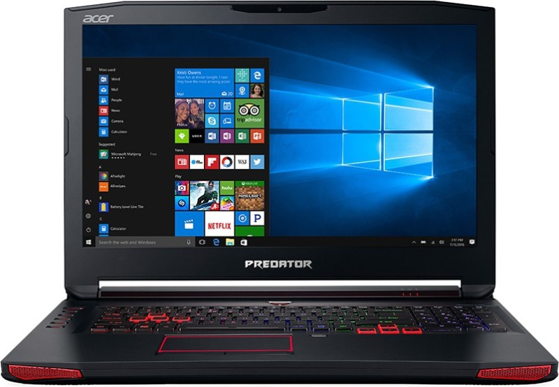 Acer Predator 17 Core i7 7th Gen - (16 GB/2 TB HDD/256 GB SSD/Windows 10 Home/8 GB Graphics) G9-793 Gaming Laptop(17.3 inch, Black, 4.2 kg, With MS Office)