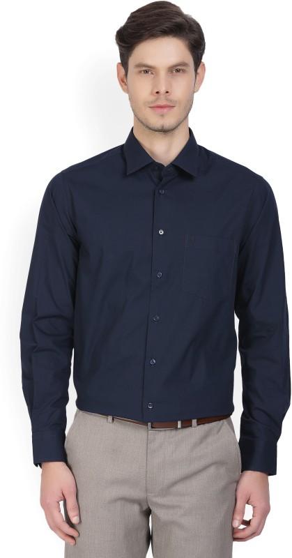 Indian Terrain Men's Solid Casual Blue Shirt