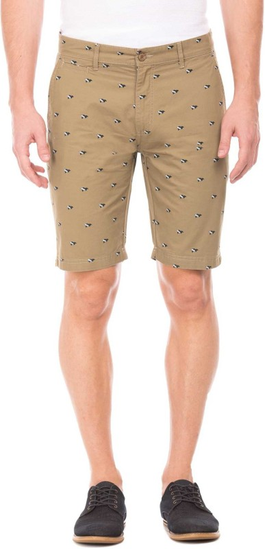 Izod Printed Men Brown Regular Shorts