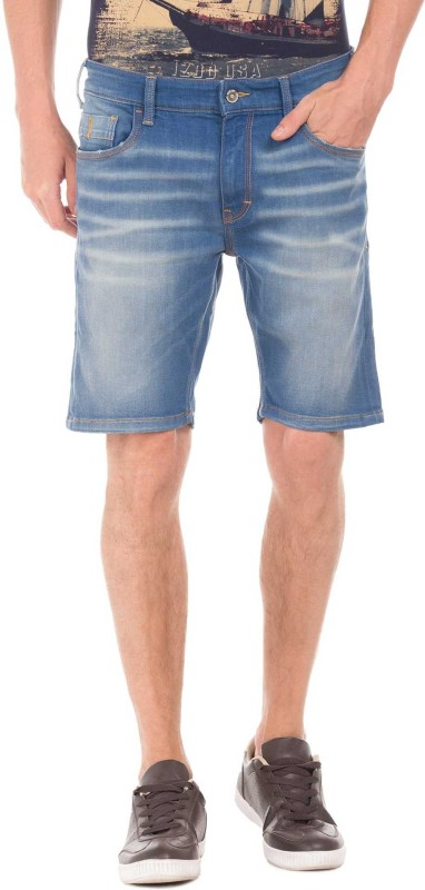 Izod Solid Men Blue Regular Shorts