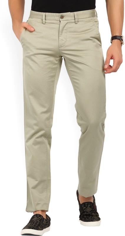 LP Louis Philippe Slim Fit Mens Beige Trousers