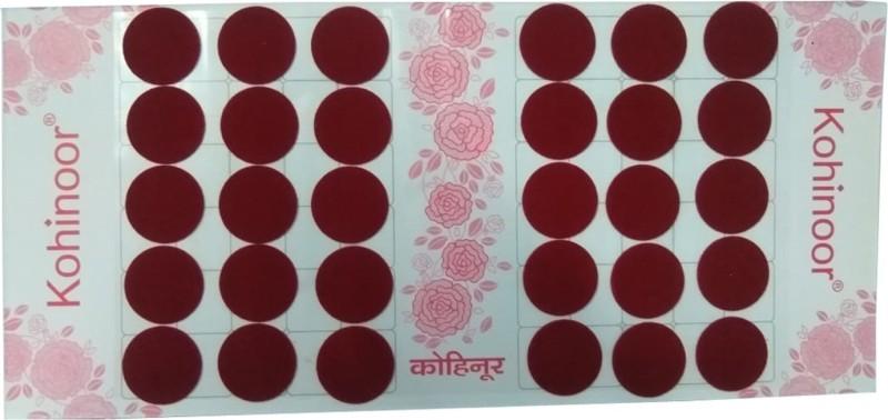 Kohinoor Maroon round bindi for women Women Maroon Bindis(Stick on)