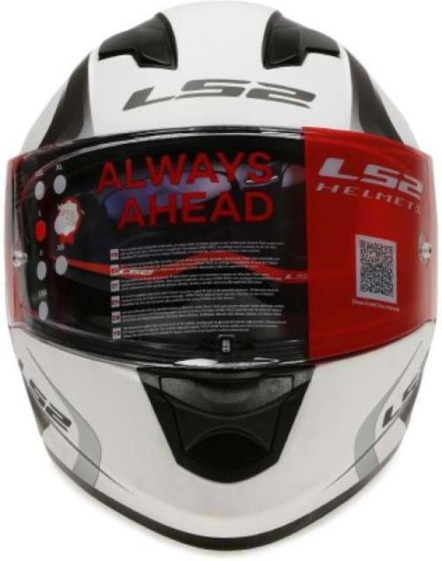 LS2 Velvet Motorbike Helmet(White, Grey)