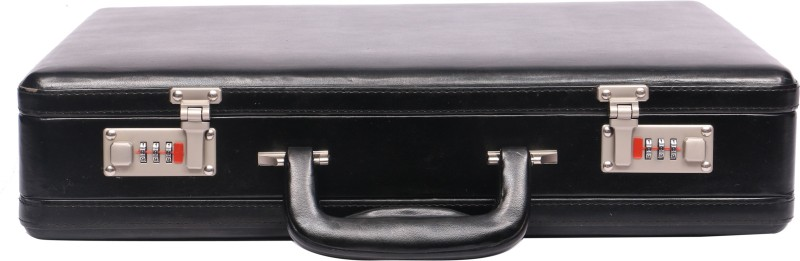 OBANI Faux Leather Expandable Briefcase Medium Briefcase - For Men(Black)