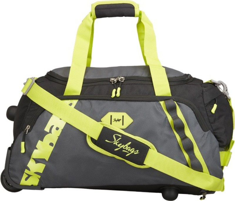 Skybags XENON DFT 55 BLACK Duffel Strolley Bag(Black)
