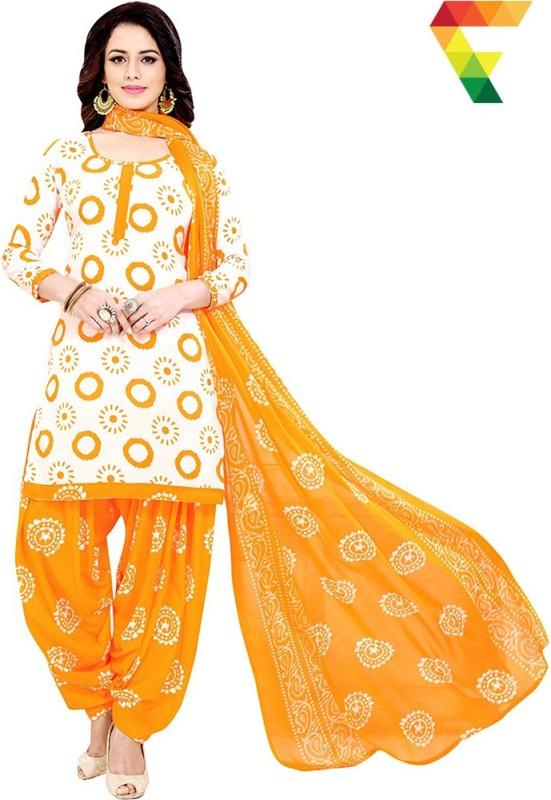 FabTag - Fashion Valley Crepe Printed Salwar Suit Dupatta Material, Kurta &...
