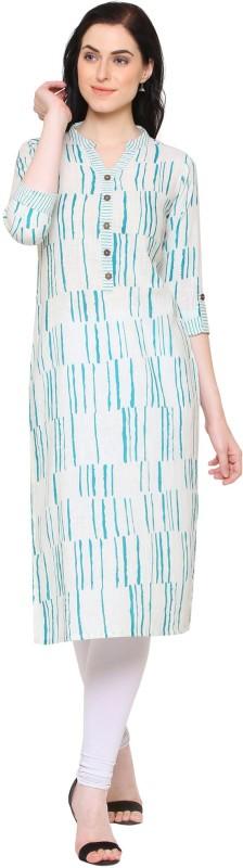 Yash Gallery Women Striped Straight Kurta(Multicolor)