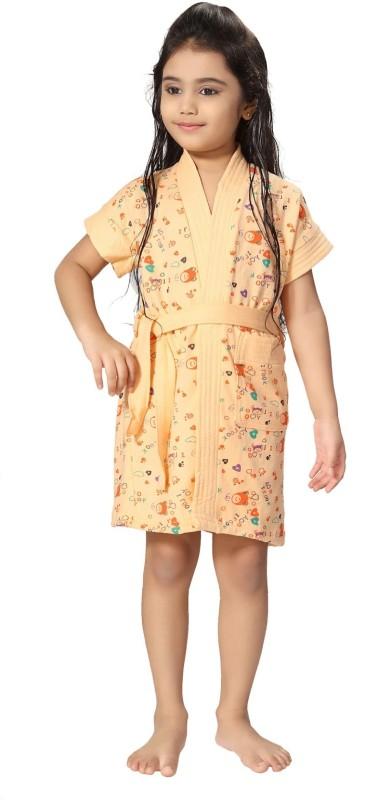 Be You Peach XXS Bath Robe(1 bathrobe with belt, For: Baby Girls, Peach)