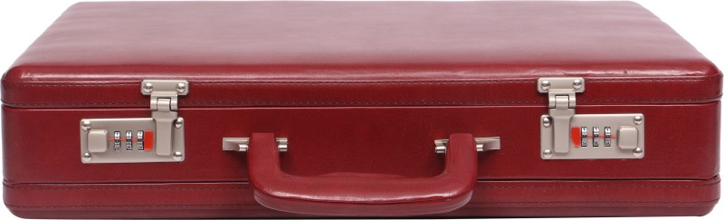 OBANI Faux Leather Expandable Briefcase Medium Briefcase - For Men(Maroon)