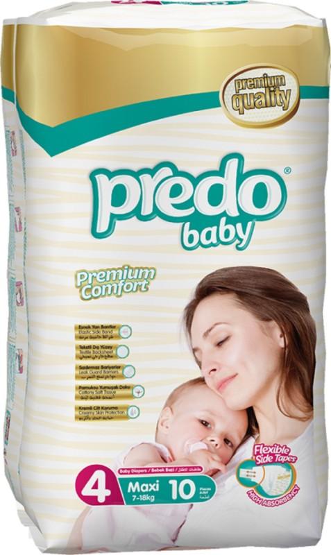 Predo Baby MAXI Standard 7-18kg, Size 4, 10 pcs - L(10 Pieces)