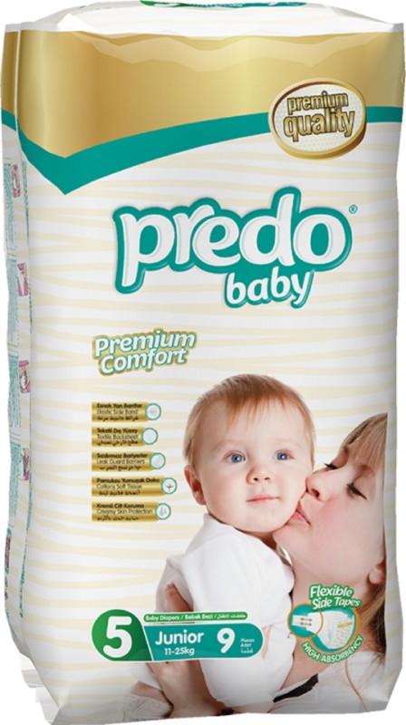 Predo Baby JUNIOR Standard 11-25kg, Size 5, 9 pcs - XL(9 Pieces)