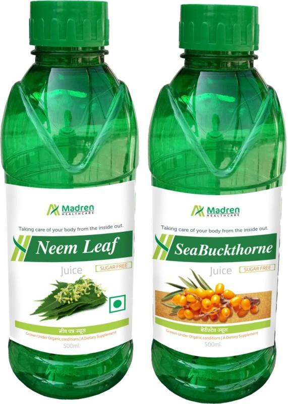 Madren Healthcare Neem & Seabuckthrone Juice(2 x 250 ml)