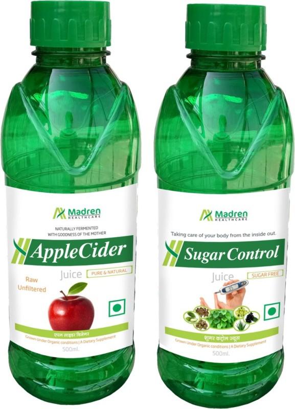 Madren Healthcare Apple Cider Vinegar & Sugar Care Juice(2 x 250 ml)
