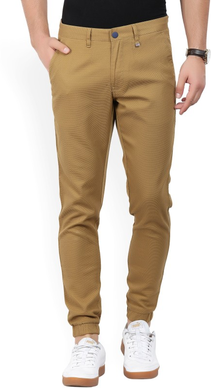 LP Louis Philippe Slim Fit Men Brown Trousers