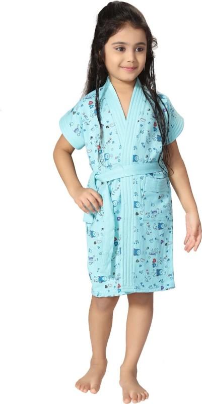 Be You Blue XXS Bath Robe(1 bathrobe with belt, For: Baby Boys & Baby Girls, Blue)