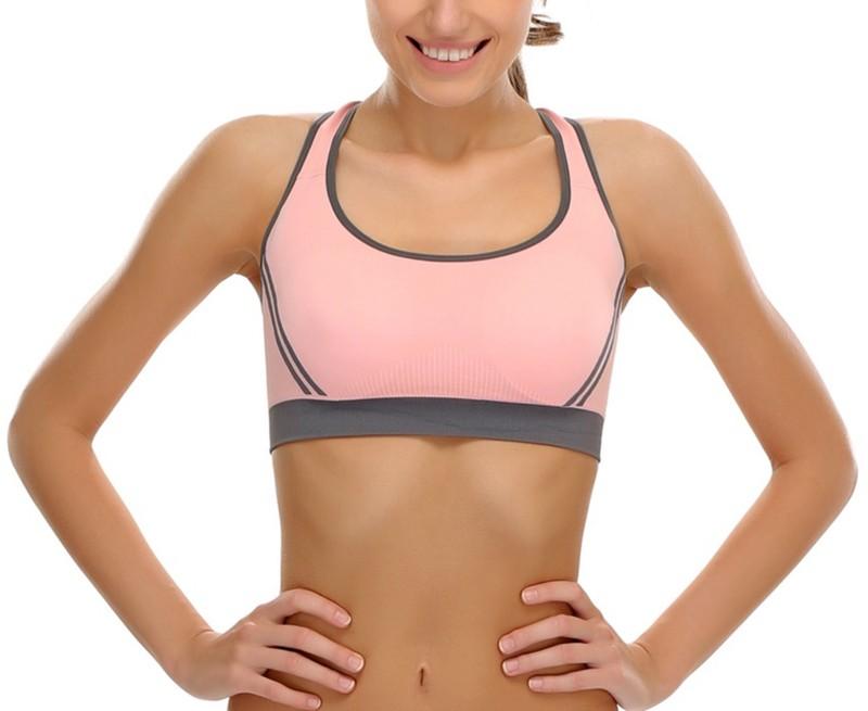 DealSeven Fashion Women's Sports Lightly Padded Bra(Pink)