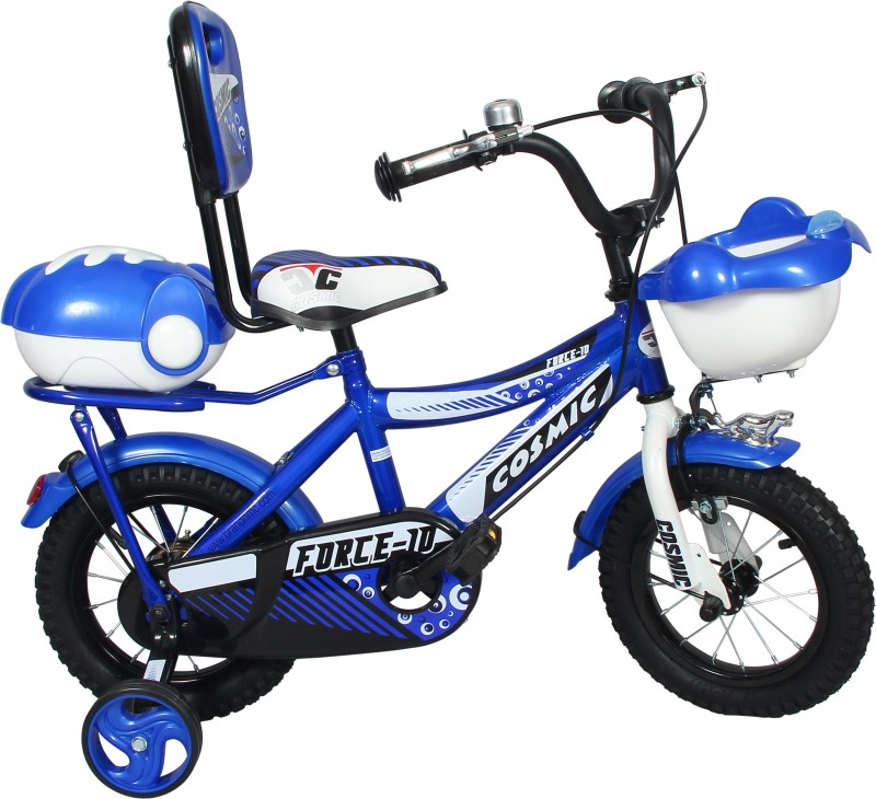 COSMIC FORCE-10 KIDS BICYCLE 12-INCH BLUE/WHITE 12 T Recreation Cycle(Single Speed, Blue)
