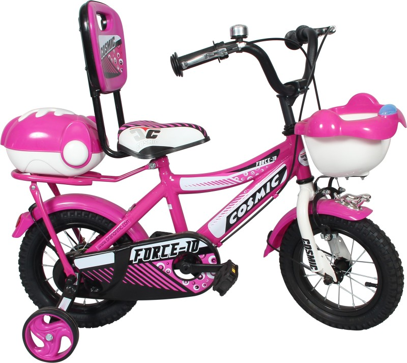 COSMIC FORCE-10 KIDS BICYCLE 12-INCH PINK/WHITE 12 T Recreation Cycle(Single Speed, Pink)