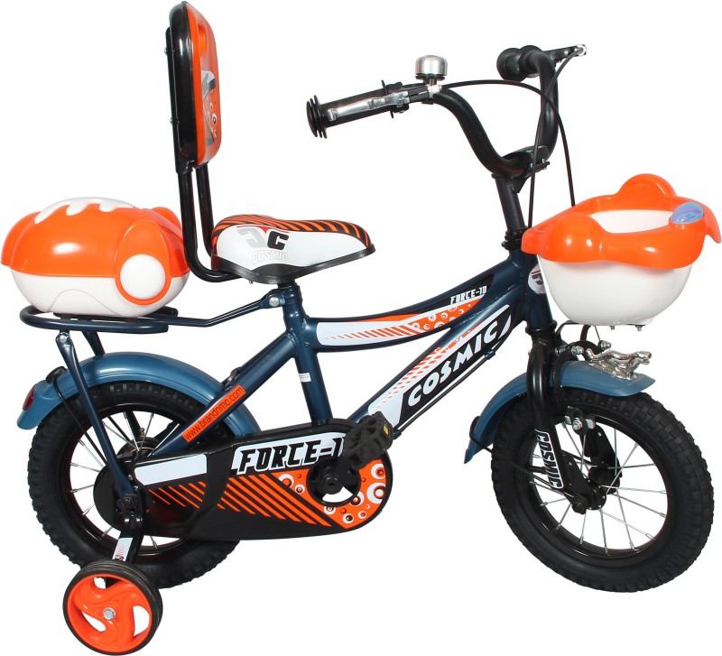 COSMIC FORCE-10 KIDS BICYCLE 12-INCH BLUE/ORANGE 12 T Recreation Cycle(Single Speed, Orange)
