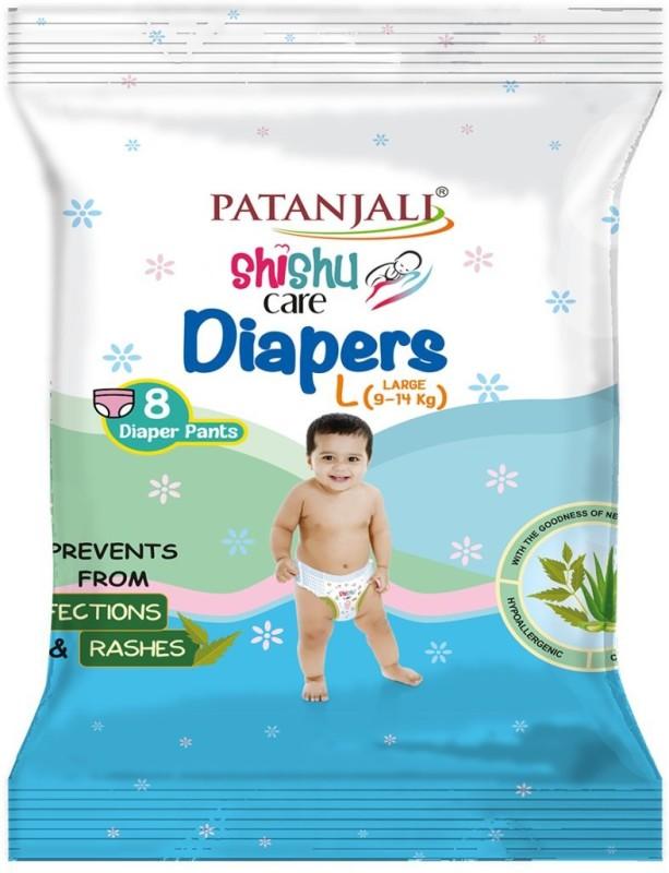 Patanjali Shishu Care Baby Diaper - L(8 Pieces)