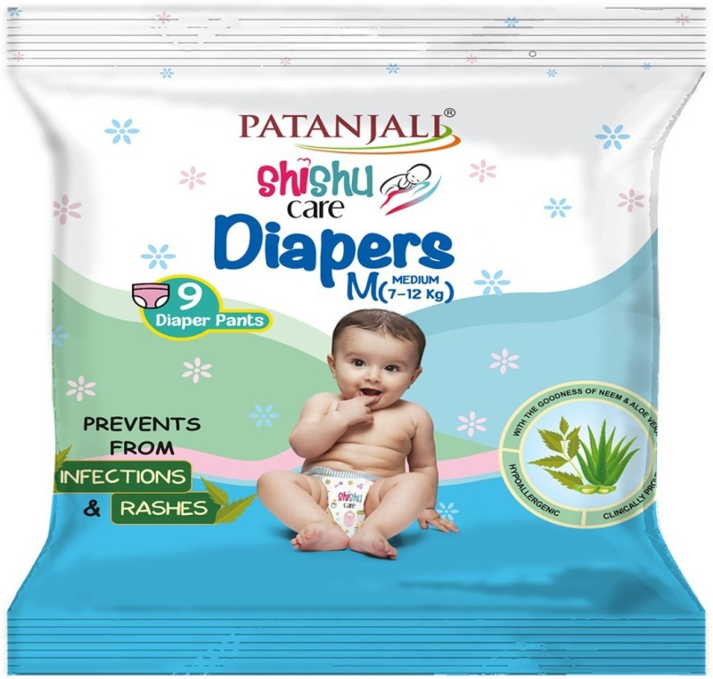 Patanjali Shishu Care Baby Diaper - M(9 Pieces)
