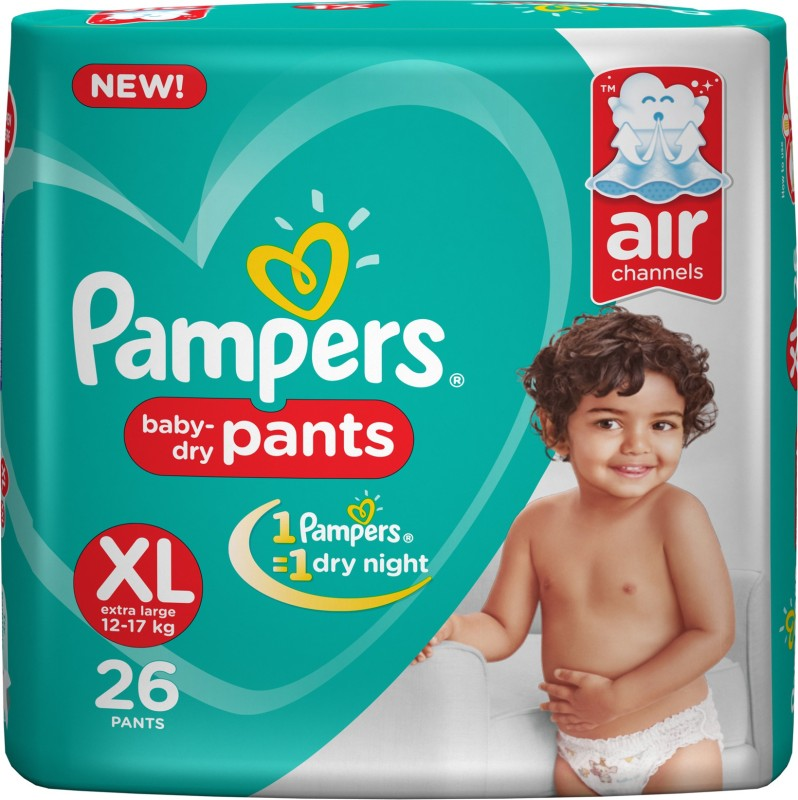 Pampers Pants Diapers New - XL(26 Pieces)