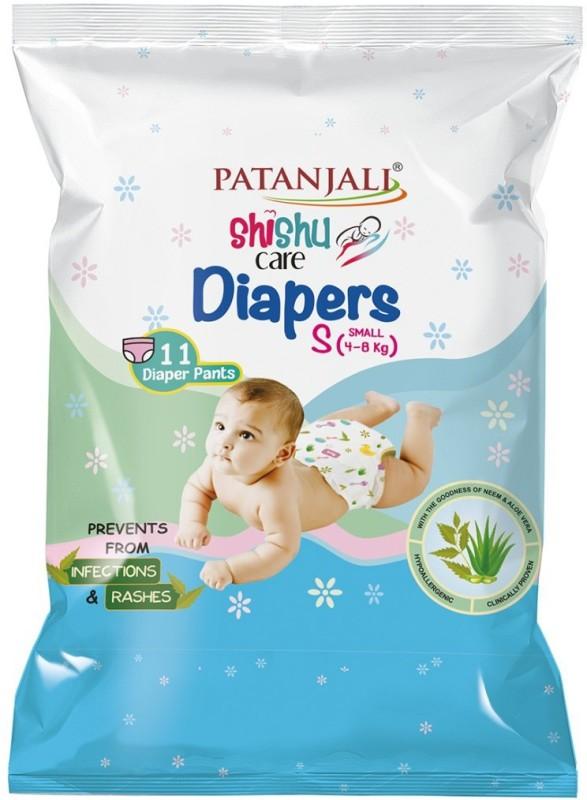 Patanjali Shishu Care Baby Diaper - S(11 Pieces)