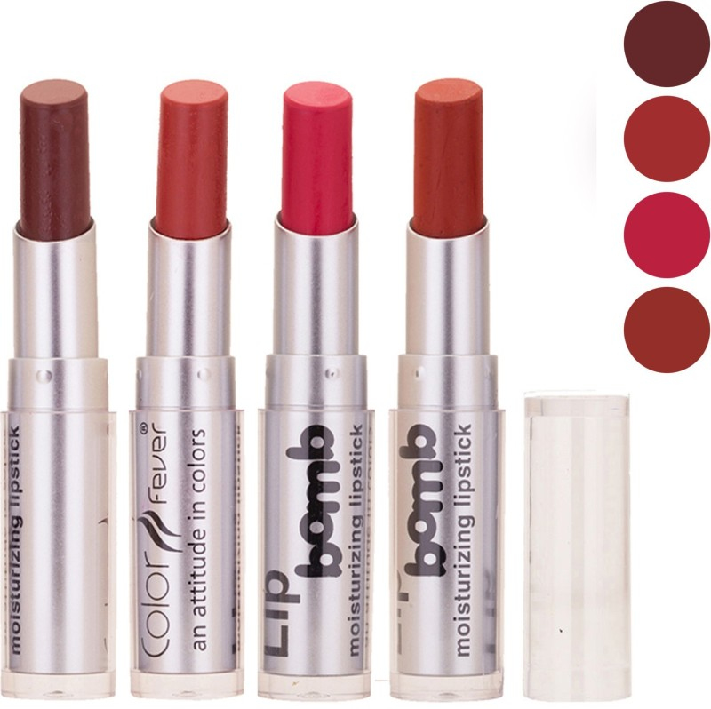 Color Fever Lipstick Combo(Peach, Coffee, Pink, Orange, 16 g)