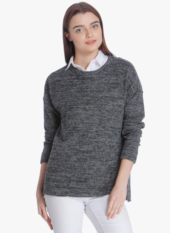 Vero Moda Round Neck Solid Women Pullover