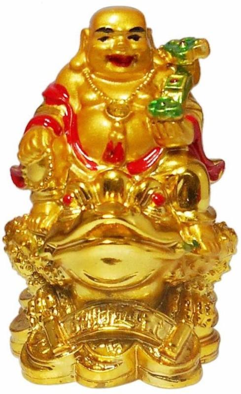 4G Laughing buddha Decorative Showpiece - 8 cm(Polyresin, Yellow)