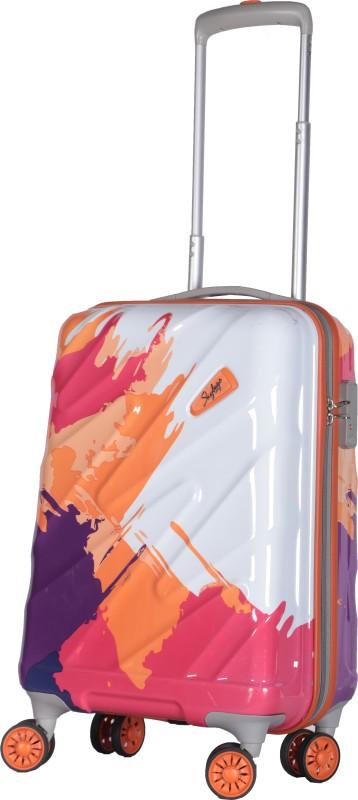 Skybags Spinner Hard Trolley 55cm (Orange) Cabin Luggage - 22 inch(Orange)