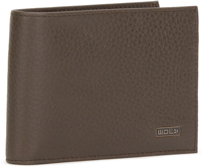 Woodland Men Casual Brown Genuine Leather Wallet(8 Card Slots)