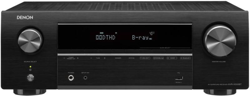 Denon AVR X-550BT 5.2 Ch AVR 650W Rms, Dolby, DTS, Bluetooth, WiFi , Indian Voltage 230 W AV Power Receiver(Black)