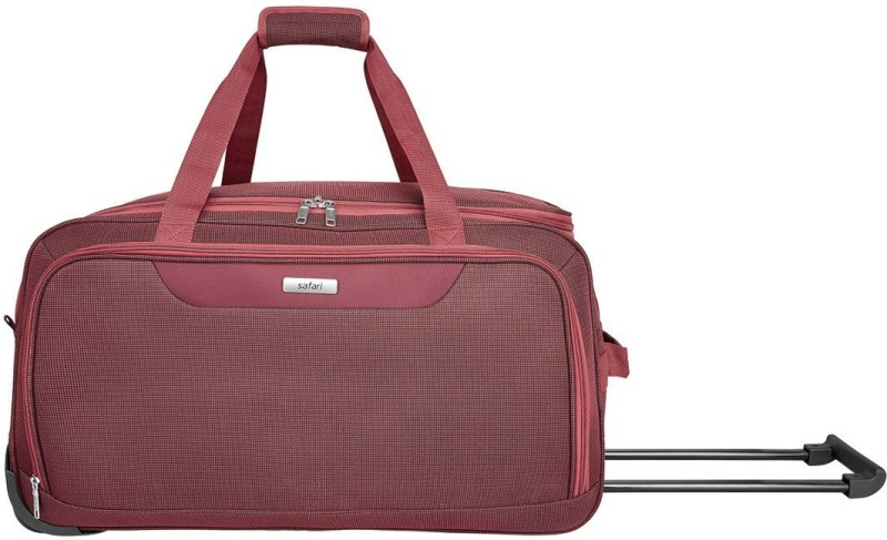 Safari 22 inch/56 cm CREST 55 RDFL RED Duffel Strolley Bag(Red)