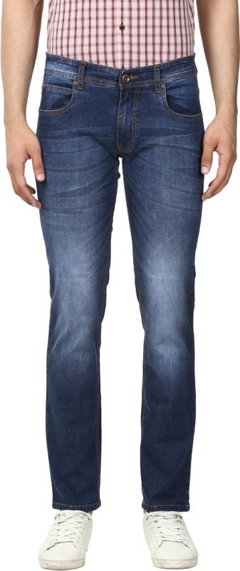 Park Avenue Slim Men Dark Blue Jeans