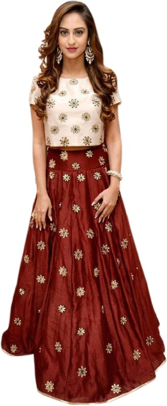 Apnisha Embroidered Lehenga Choli(Maroon)