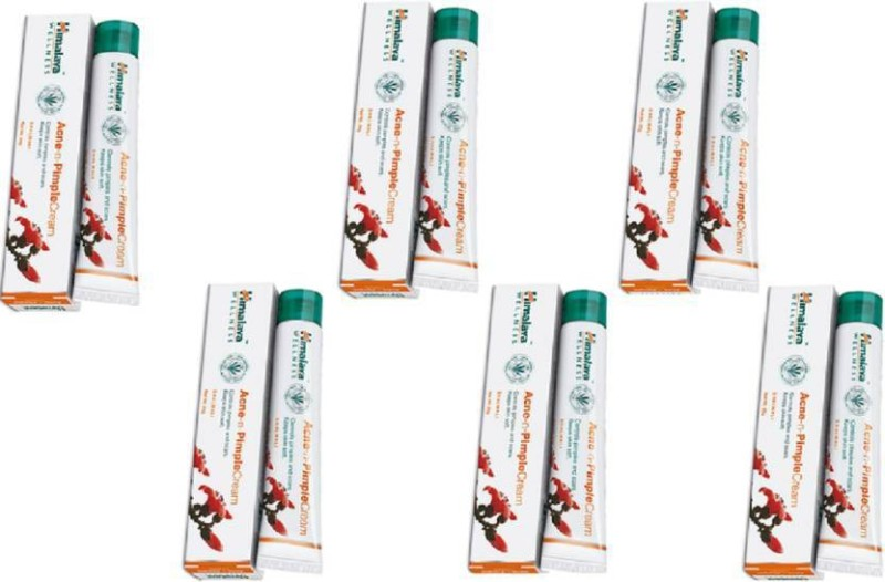 Himalaya Acne-n-Pimple Cream Zits be gone PACK OF 6 (20 g)(20 ml)