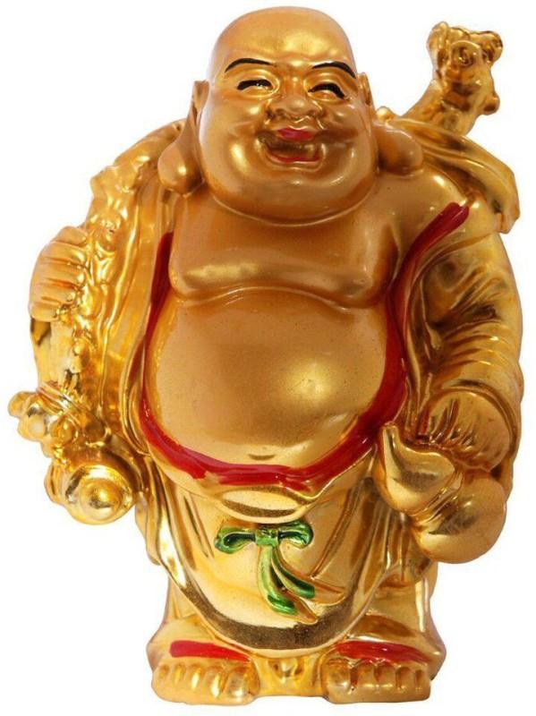 4G Laughing Buddha Decorative Showpiece - 6 cm(Polyresin, Multicolor)