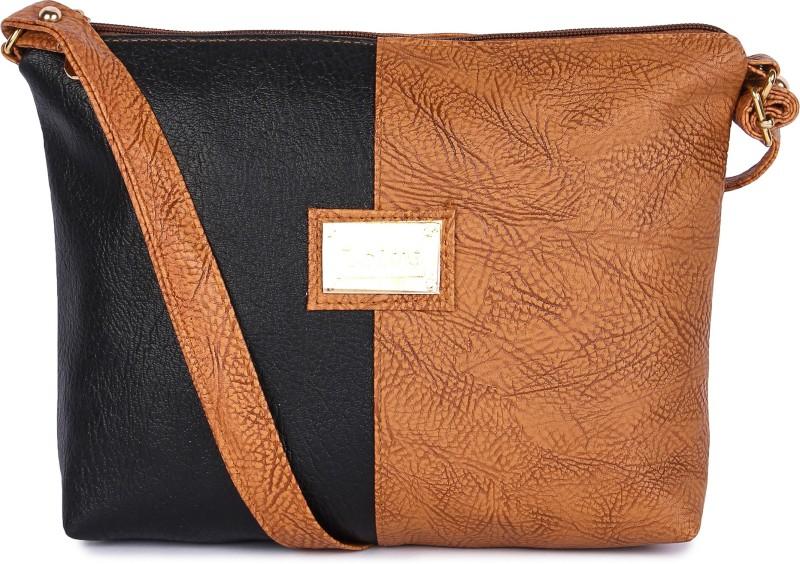Faijan Fashions Tan, Black Sling Bag