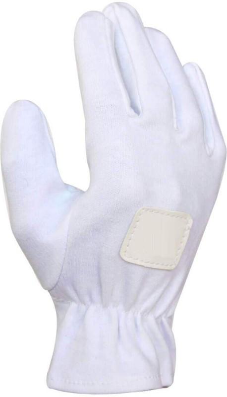 QUINERGYS ™ Quality Assured Cricket Sports Premium Soft Cotton Full Batting Professional Inner Gloves Inner Gloves (Youth, White)