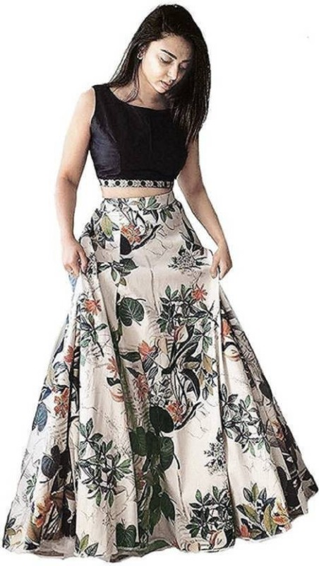shelvinzas Printed Semi Stitched Lehenga Choli(Multicolor)
