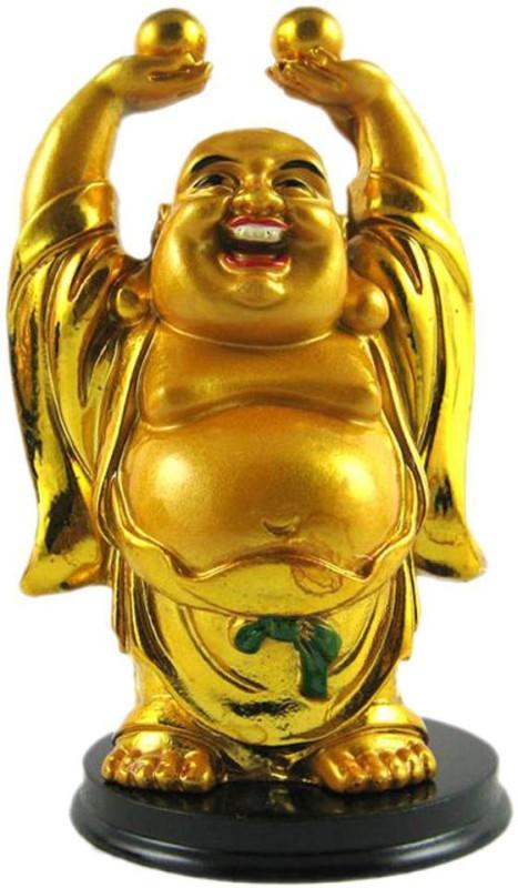 4g Laughing Buddha Decorative Showpiece - 5 cm(Polyresin, Yellow)