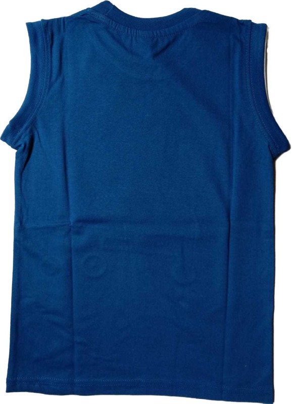 NIUE Boys Printed Cotton Blend T Shirt(Blue, Pack of 1)