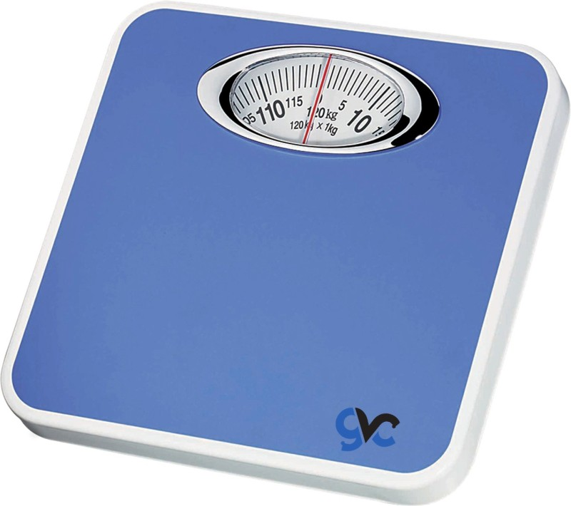 GVC Analog Manual Personal Bathroom Health Body Weighing Scale(Blue)