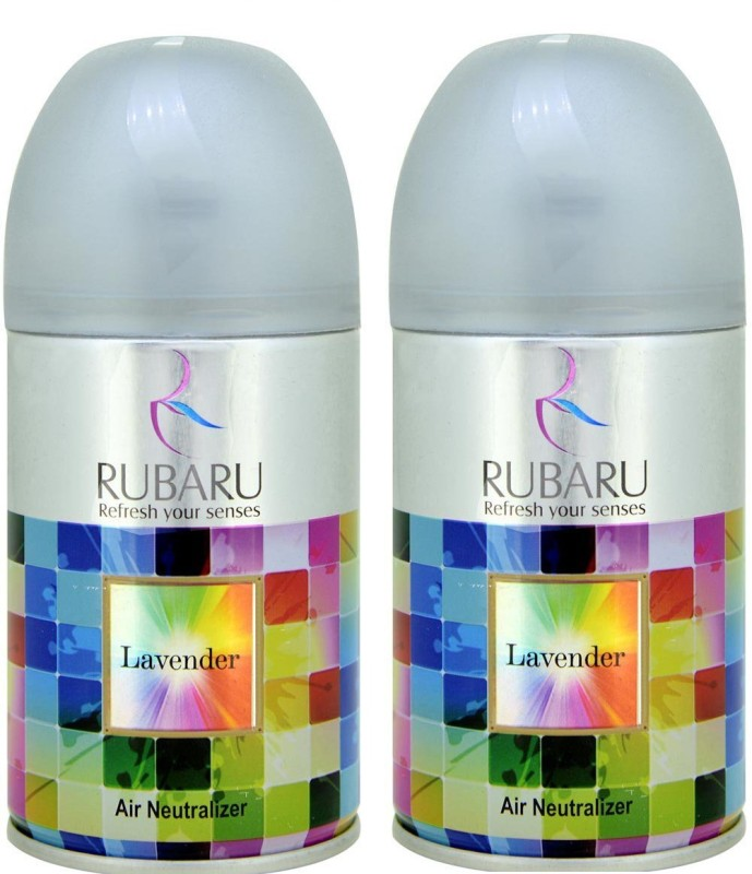 Ru Baru Lavender Automatic air freshner Refill / Automatic Room Freshener Machine Refill- 300ml+300ml (fitted all machines/dispensers) pack of 2 pc Automatic Spray(600 ml)
