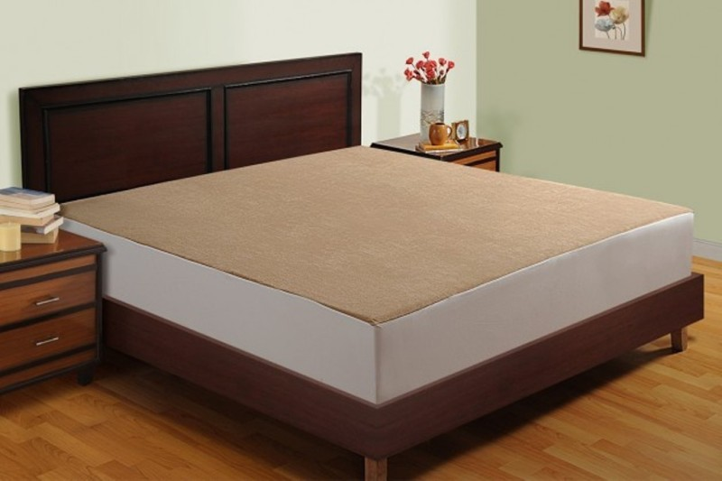 Rexsleep Fitted Queen Size Waterproof Mattress Protector(Brown)