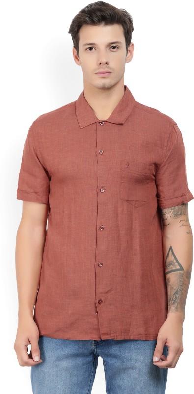 Indian Terrain Men Solid Casual Red Shirt