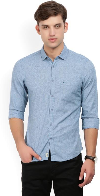 Indigo Nation Men Self Design Formal Blue Shirt